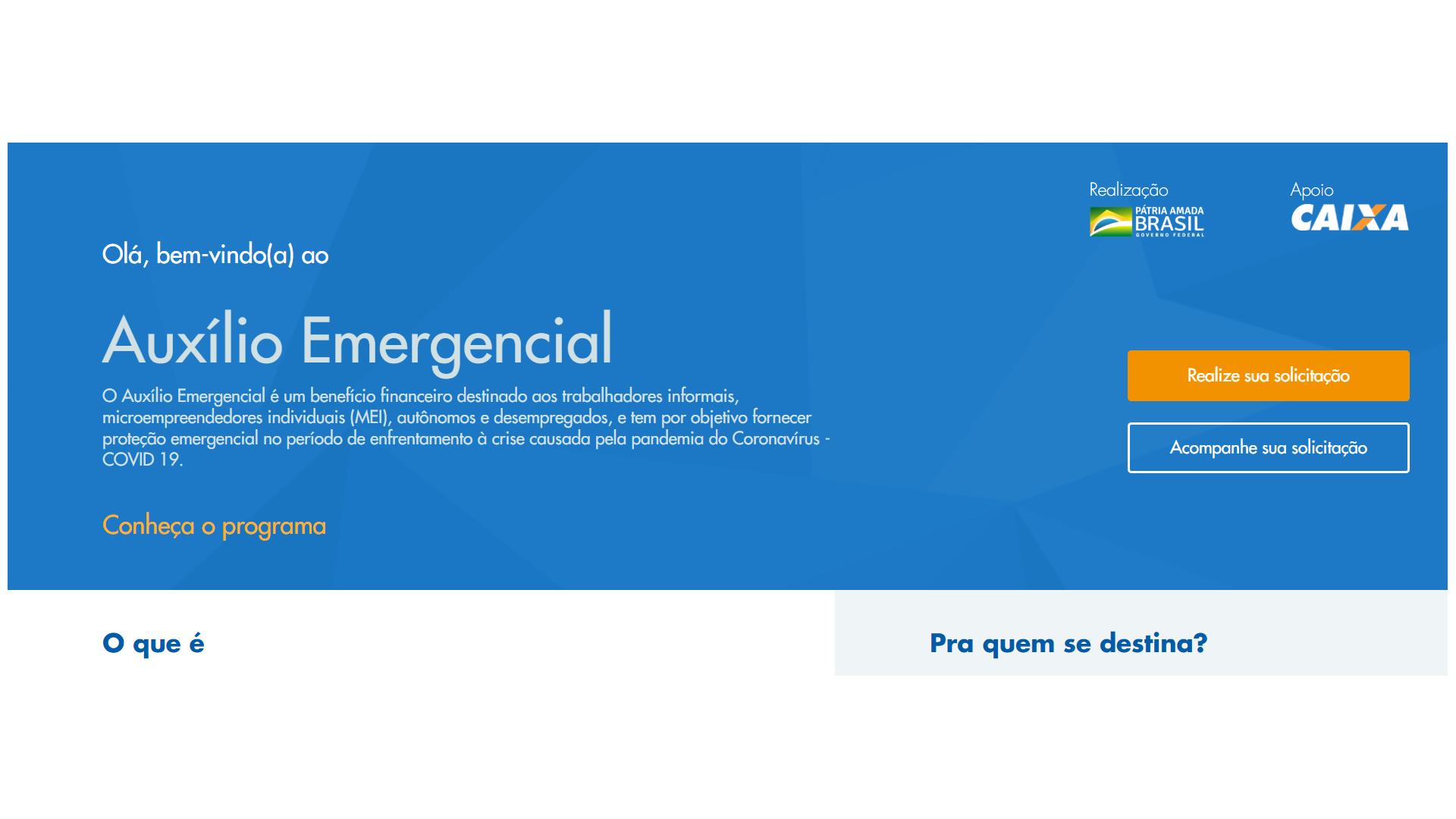 Auxilio emergencial caixa