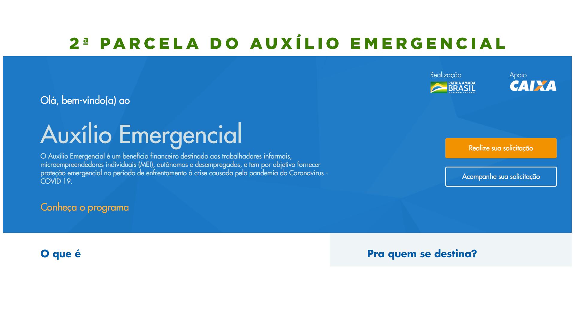 2 parcela auxilio emergencial